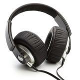 Zwarte hoofdtelefoons Stock Fotografie