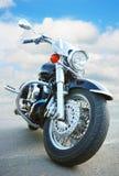 Grote zwarte motorfiets Royalty-vrije Stock Fotografie