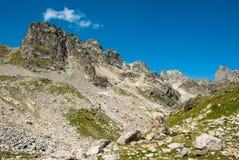 Groter de berglandschap van de Kaukasus Royalty-vrije Stock Afbeeldingen