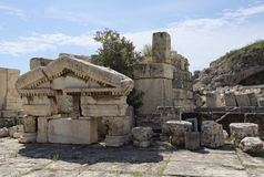 Groter Propylaiain-fronton, oude Eleusis Royalty-vrije Stock Afbeelding