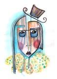 grotesk Abstract portret royalty-vrije illustratie