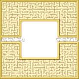 Grotesk maze inramar royaltyfri illustrationer
