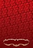 grotesk ramglödguld över den röda wallpaperen royaltyfri illustrationer