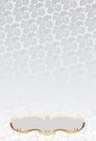 grotesk ramglödguld över silverwallpaperen stock illustrationer