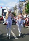 Groteske kostuums bij de Vrolijke Trots 2010 van Parijs Stock Fotografie