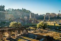 Groteskt forum i Rome Arkivbild
