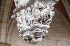 Grotesque Figures Grand Place Brussels Belgium Stock Photography