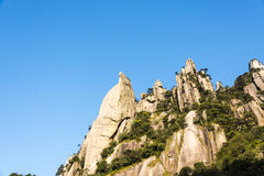 Grotesque peaks thrusts itself towards the sky Royalty Free Stock Image