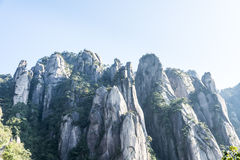 Grotesque peaks thrusts itself towards the sky. This photo was taken in Mt. Sanqingshan.Photo taken on:Oct 21th,2015.Mt. Sanqingshan, located in northeast of Stock Image