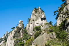 Grotesque peaks thrusts itself towards the sky. This photo was taken in Nanqing Park,Mt. Sanqingshan.Photo taken on:Oct 21th,2015.Mt. Sanqingshan, located in Stock Photo