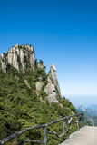 Grotesque peaks thrusts itself towards the sky. This photo was taken in Nanqing Park,Mt. Sanqingshan.Photo taken on:Oct 21th,2015.Mt. Sanqingshan, located in Royalty Free Stock Photography