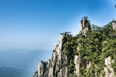 Grotesque peaks thrusts itself towards the sky. This photo was taken in West Seashore park,Mt. Sanqingshan.Photo taken on:Oct 21th,2015.Mt. Sanqingshan, located Royalty Free Stock Photo