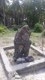 Groth sten i delftfajansön royaltyfria foton