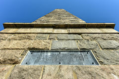 Groton Monument - Connecticut. The Groton Monument, also called the Fort Griswold Monument, is a granite monument in Groton, Connecticut dedicated to the Royalty Free Stock Image