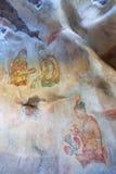 Grotschildering, Sigiriya, Sri Lanka Royalty-vrije Stock Foto's