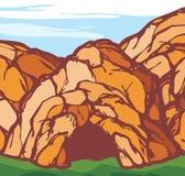 Grotta vektor illustrationer