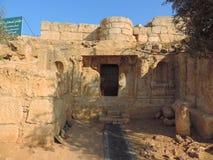 Grotta av de sju längsgående stödbjälke, Jordanien Arkivbild