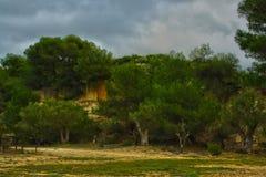 Grotta av fantianoen till grottaglie royaltyfri foto