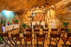 Grotta av Gethsemane i Jerusalem, Israel Royaltyfria Foton