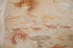 Grotta av händerna - Argentina royaltyfri bild