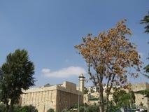 Grotta av patriarkerna i Hebron, Israel arkivbild