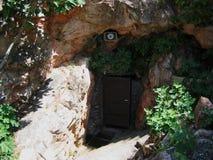 Grotta av St George på Kilkis Makedonien Grekland Arkivfoton