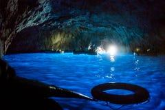 Grotta azzurra a Capri vicino Napoli. Blue grotto situated in the island of Capri near Napoli, south Italy stock photo