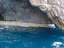Grotta blu di Malta Fotografia Stock