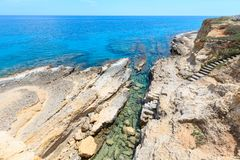 Grotta Del Canale, Sant-` Andrea, Salento-Seeküste, Italien Lizenzfreies Stockfoto