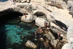 Grotta Della Poesia royaltyfri fotografi