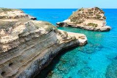 Grotta dello Mbruficu, Salento sea coast, Italy Stock Photos