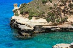 Grotta-dello Mbruficu, Salento-Seeküste, Italien Lizenzfreies Stockbild