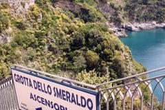 Grotta dello Smeraldo bay Italy Stock Images