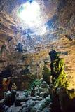 Grotta di Castellano, Apulien - eindrucksvolles Steinbildungen illum stockbild