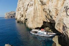 Grotta för Neptun` s Alghero Sardinia - Italien Royaltyfri Bild
