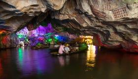 Grotta för sju stjärnabrant klippa Arkivbilder