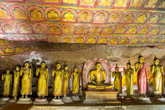 Grotta i Dambulla, Sri Lanka Royaltyfri Fotografi