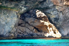 Grotta i Malta Royaltyfri Bild