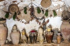 Grotta-kök av grottahuset av grottmänniskor arkivfoton