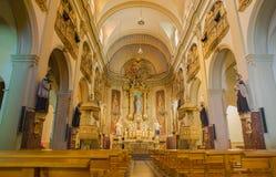 Grotta-kyrka helgon Ignatius Loyola Manresa Arkivfoton