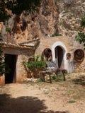 Grotta Mangiapane, Sicília, Itália Imagem de Stock Royalty Free