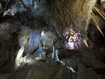 Grottabildande med Helictites - Jenolan grottor Arkivfoto