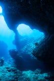 Grottadykning arkivbilder
