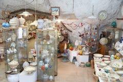 Grottaglie ceramics shop Royalty Free Stock Photo