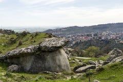 Grottagrottor i Calabria med landskap Fotografering för Bildbyråer