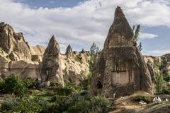 Grottahuset av felika lampglas vaggar champinjonen i Pasabag, munkar dalen, Cappadocia, Turkiet Royaltyfri Bild