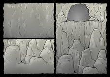 Grottaillustration Arkivbilder