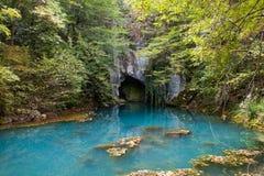 grottaingångsvatten royaltyfria foton