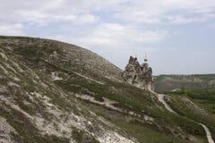 Grottakloster i Kostomarovo, Voronezh region, Ryssland Arkivbild