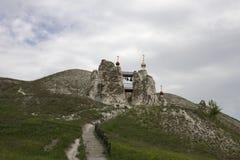 Grottakloster i Kostomarovo, Voronezh region, Ryssland Royaltyfri Fotografi
